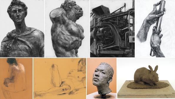 彫刻科作品